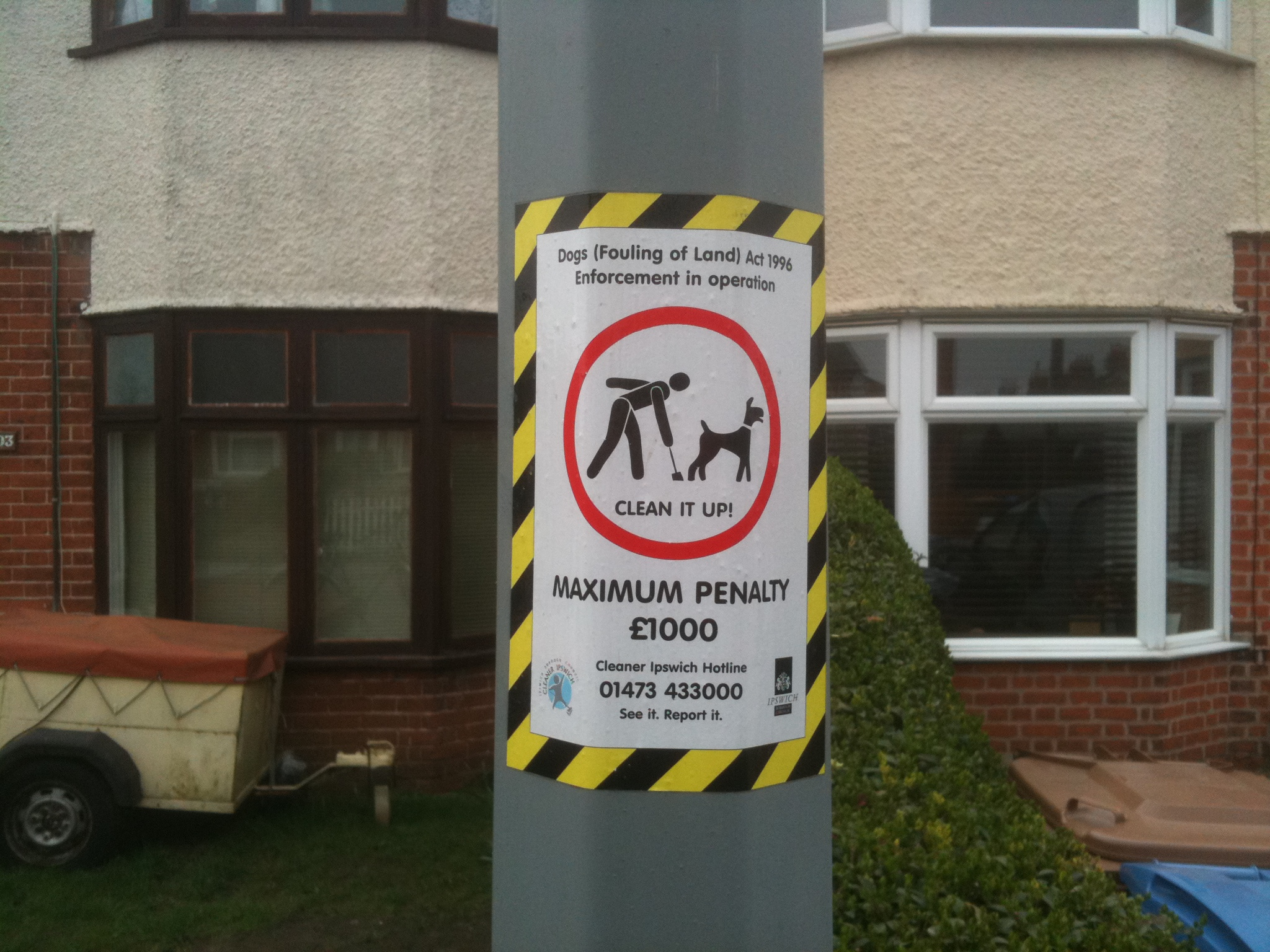 Dog poo on the pavement leads to £1,000 fine, car storage is