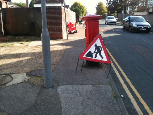 Making the pavement even narrower (less than the legal 1 meter as well)