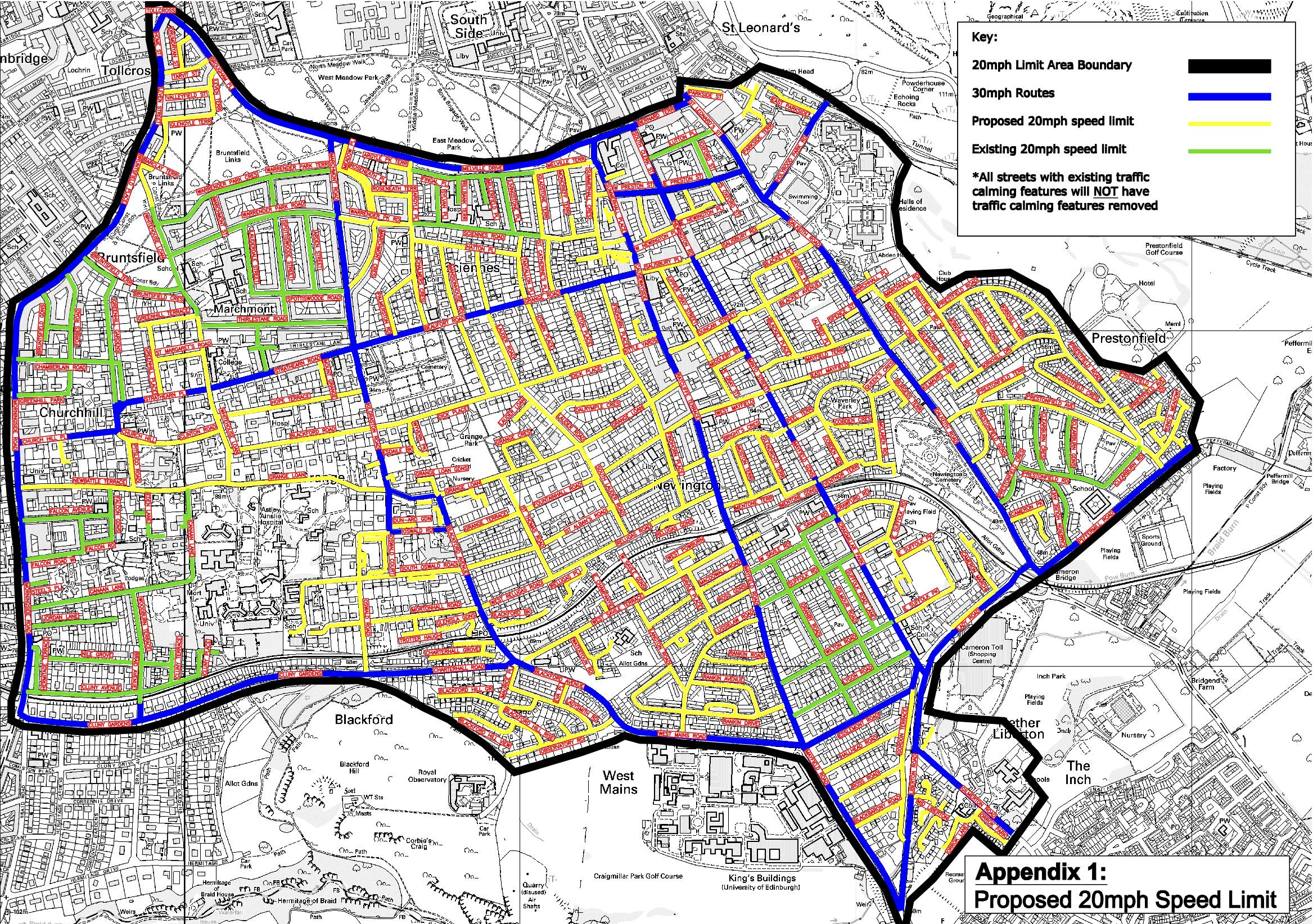 Edinburgh Parking Map Edinburgh | Pedestrian Liberation Edinburgh Parking Map