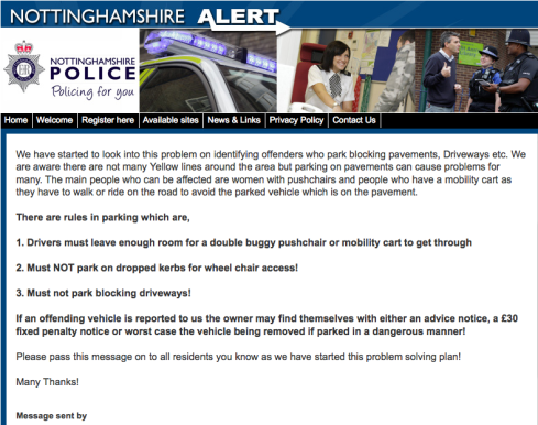 Notts police get tough