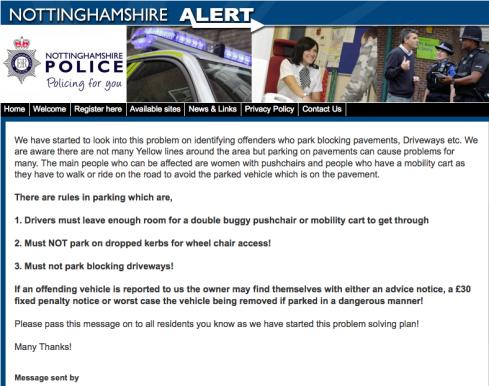 Notts police get tough